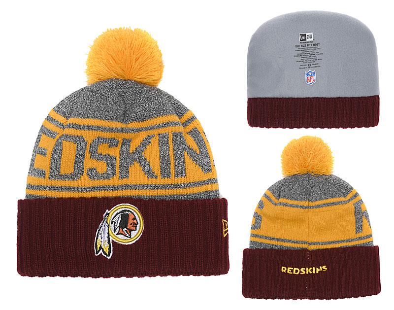 Redskins Team Logo Cuffed Knit Hat With Pom YD