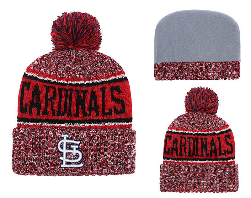 SL Cardinals Fresh Logo Red Cuffed Knit Hat With Pom YD