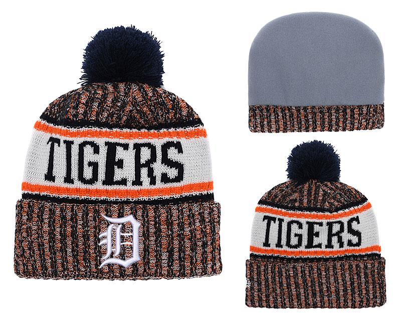 Tigers Fresh Logo Cuffed Knit Hat With Pom YD