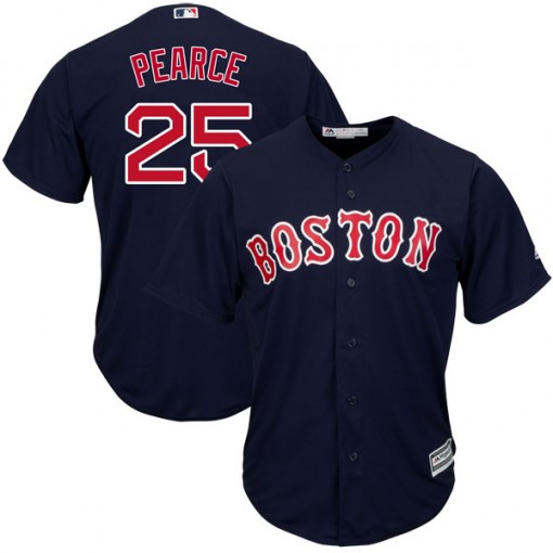 Red Sox 25 Steve Pearce Navy Cool Base Player Jersey