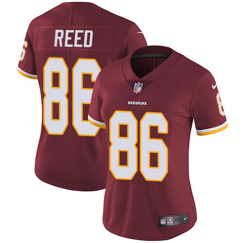 Nike Redskins 86 Jordan Reed Burgundy Red Women Vapor Untouchable Limited Jersey