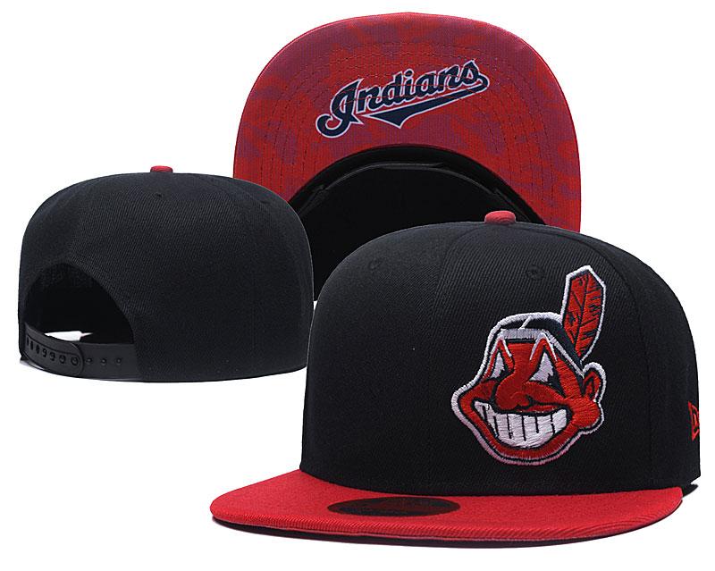 Indians Fresh Logo Black Adjustable Hat LH