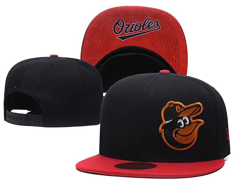 Orioles Fresh Logo Black Adjustable Hat LH