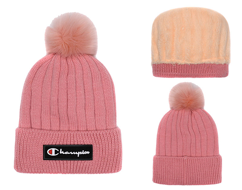 Champion Fresh Logo Pink Fashion Knit Hat SG