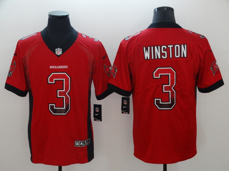 Nike Buccaneers 3 Jameis Winston Red Drift Fashion Limited Jersey