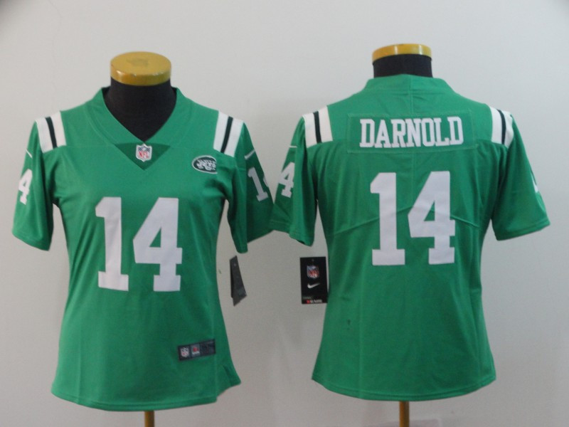 Nike Jets 14 Sam Darnold Green Women Color Rush Limited Jersey