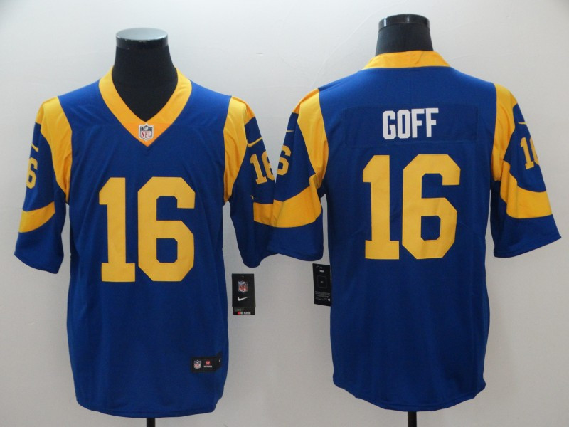 Nike Rams 16 Jared Goff Royal Vapor Untouchable Limited Jersey