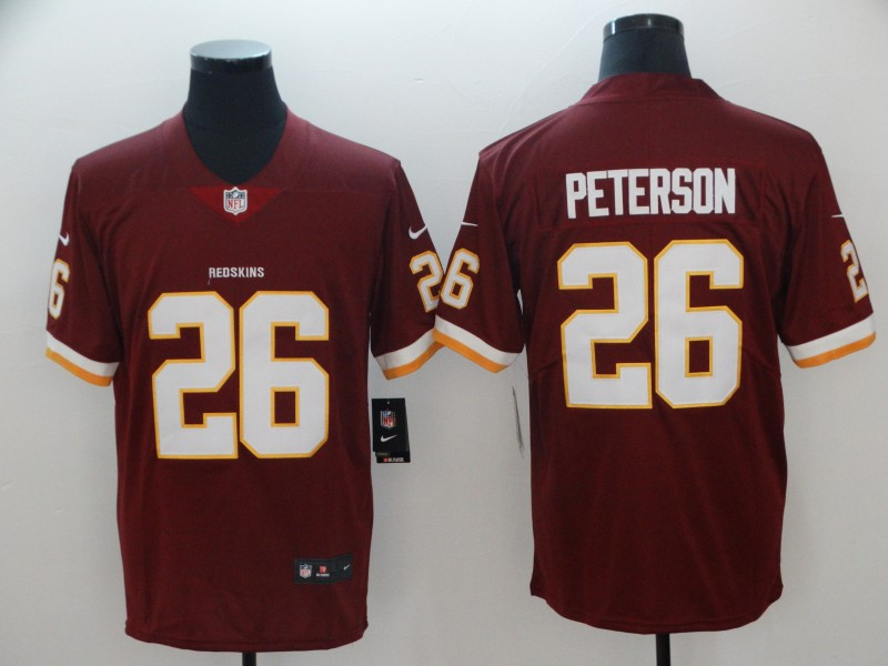 Nike Redskins 26 Adrian Peterson Red Vapor Untouchable Limited Jersey