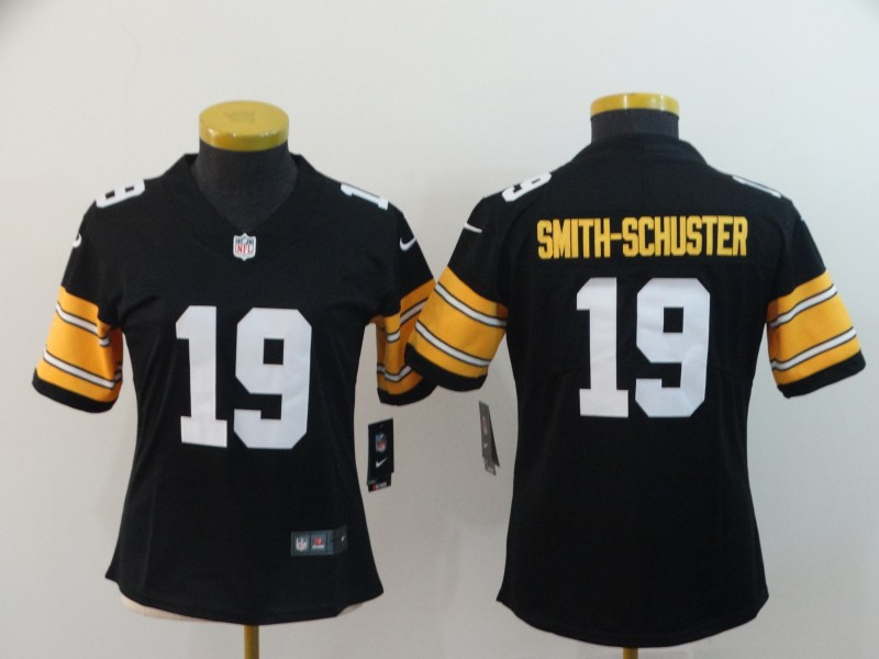Nike Steelers 19 JuJu Smith-Schuster Black Alternate Vapor Untouchable Limited Jersey