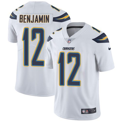 Nike Chargers 12 Travis Benjamin White Vapor Untouchable Limited Jersey