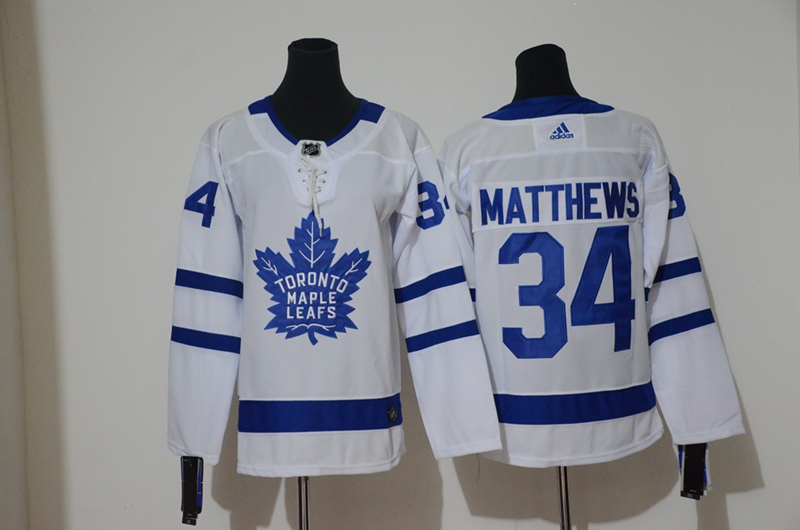Maple Leafs 34 Auston Matthews White Youth Adidas Jersey