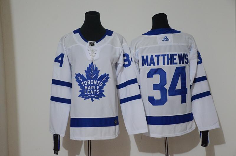 Maple Leafs 34 Auston Matthews White Youth Adidas Jersey
