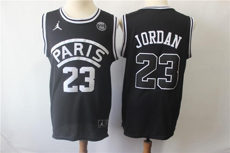 Paris Saint-Germain 23 Michael Jordan Black Fashion Jersey