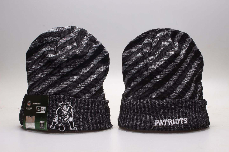 Patriots Fresh Logo Gray & Black Knit Hat YP