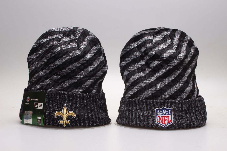 Saints Team Logo Gray & Black Knit Hat YP