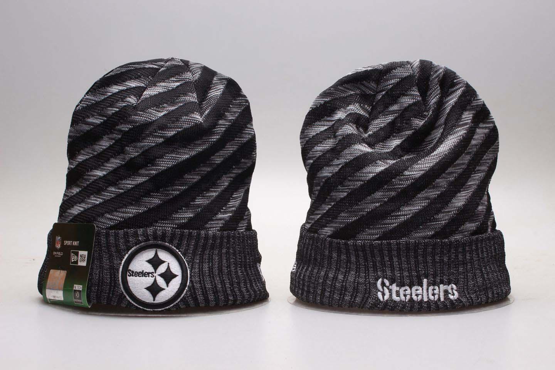 Steelers Fresh Logo Gray & Black Knit Hat YP