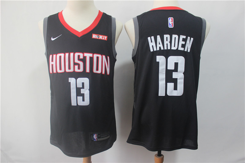 Rockets 13 James Harden Black Nike Swingman Jersey
