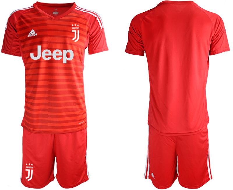 2018-19 Juventus Red Goalkeeper Soccer Jersey