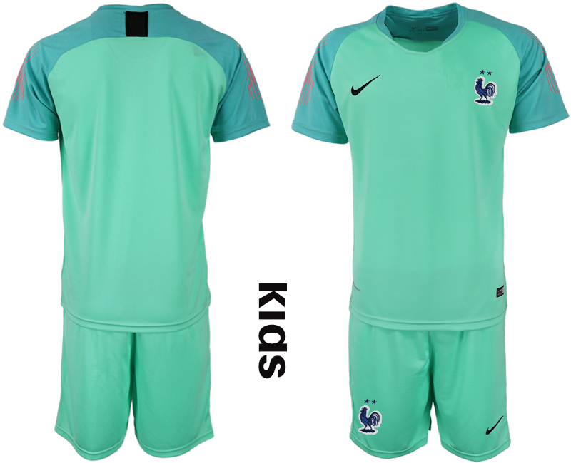 France Green 2-Star Youth 2018 FIFA World Cup Goalkeeper Soccer Jersey