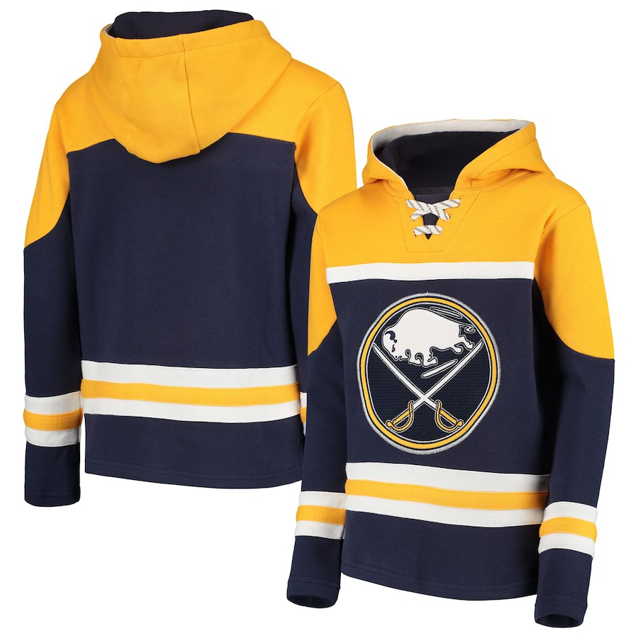 Buffalo Sabres Navy Men's Customized All Stitched Hooded Sweatshirt