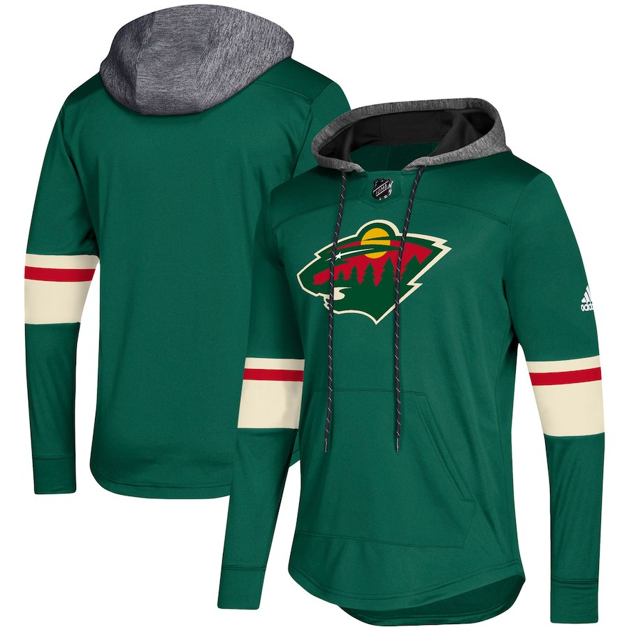 Minnesota Wild Green Women's Customized All Stitched Hooded Sweatshirt