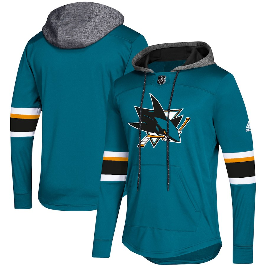San Jose Sharks Teal Women's Customized All Stitched Hooded Sweatshirt