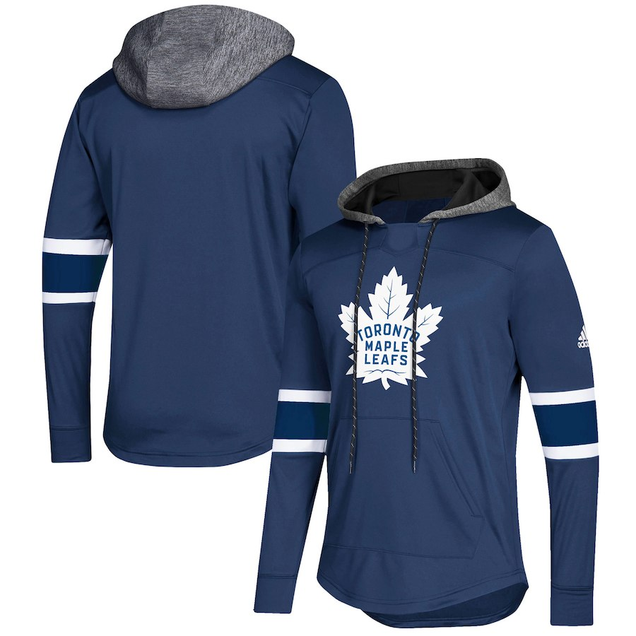 Toronto Maple Leafs Blue Women's Customized All Stitched Hooded Sweatshirt