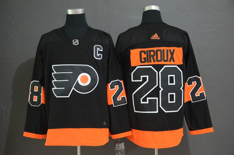 Flyers 28 Claude Giroux Black Alternate Adidas Jersey