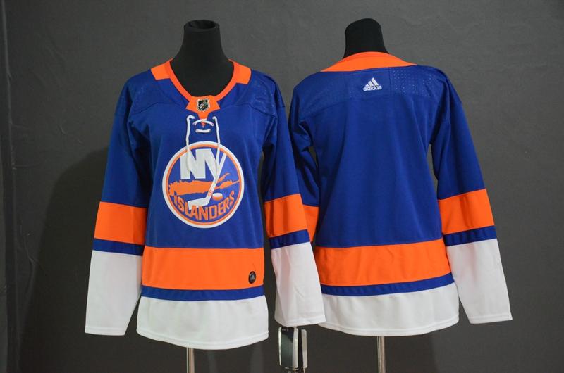 Islanders Blank Blue Women Adidas Jersey
