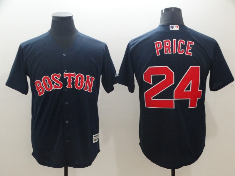 Red Sox 24 David Price Navy Cool Base Jersey