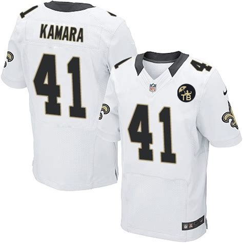 Nike Saints 41 Alvin Kamara White Youth With Tom Benson Patch Vapor Untouchable Limited Jersey