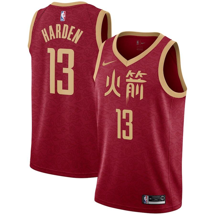 Rockets 13 James Harden Red 2018-19 City Edition Nike Swingman Jersey