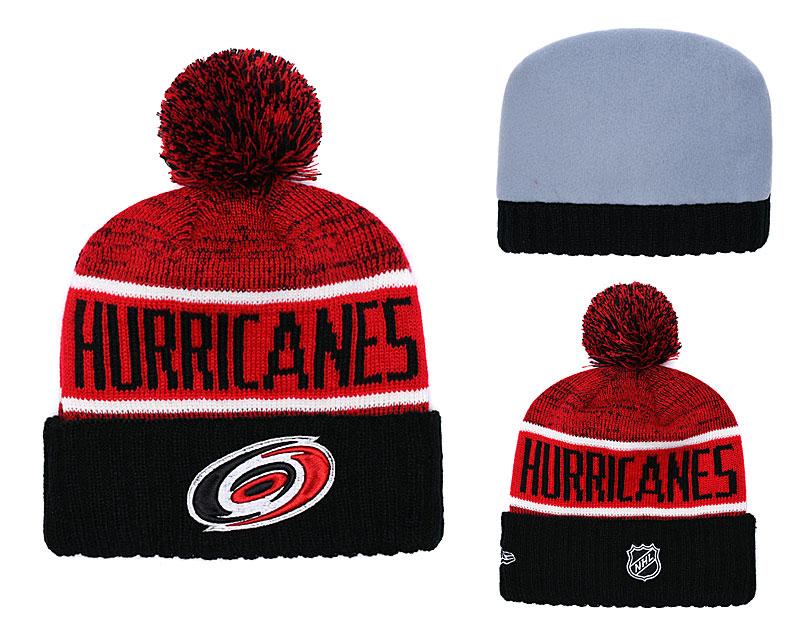 Hurricanes Black Rinkside Goalie Cuffed Pom Knit Hat YD