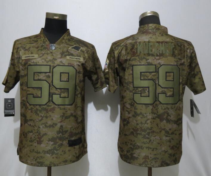 Nike Panthers 59 Luke Kuechly Camo Women Salute To Service Limited Jersey