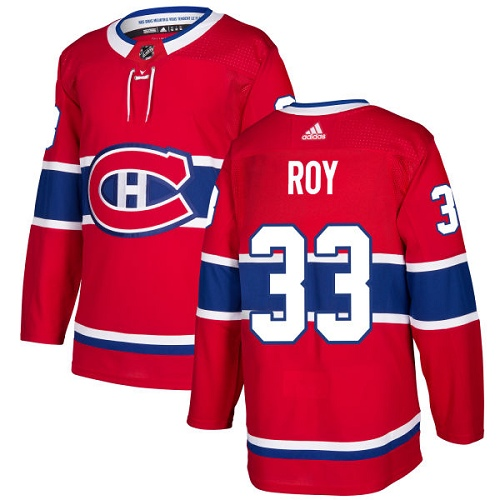 Canadiens 33 Patrick Roy Red Adidas Jersey