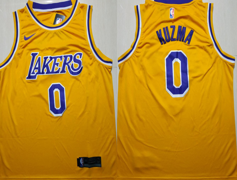 Lakers 0 Kyle Kuzma Gold 2018-19 Nike Swingman Jersey