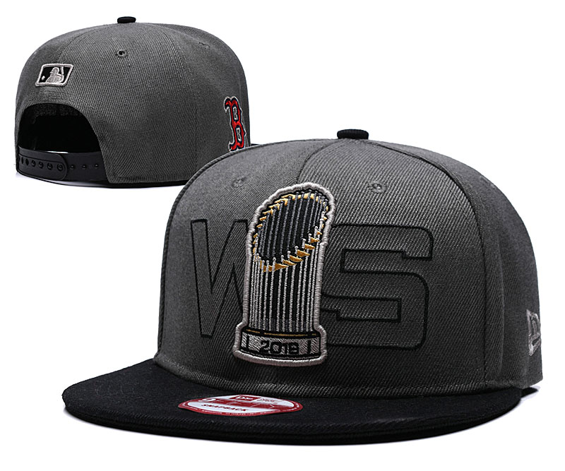 Red Sox 2018 World Series Champions Gray Adjustable Hat GS