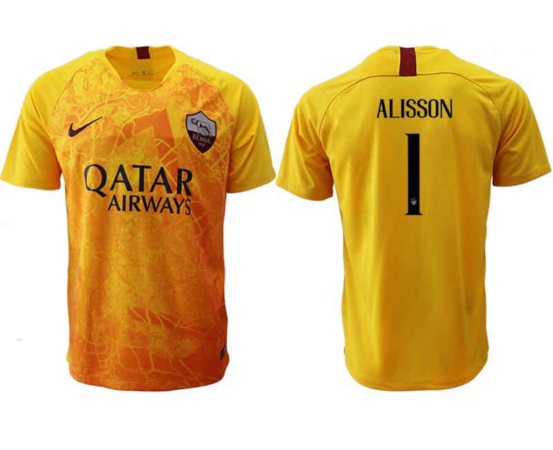 2018-19 Roma 1 ALISSON Third Away Thailand Soccer Jersey