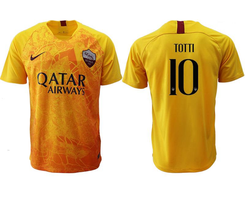 2018-19 Roma 10 TOTTI Third Away Thailand Soccer Jersey
