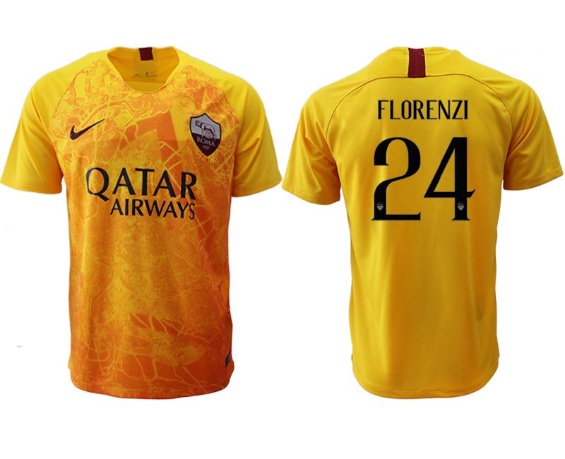 2018-19 Roma 24 FLORENZI Third Away Thailand Soccer Jersey
