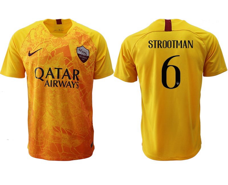 2018-19 Roma 6 STROOTMAN Third Away Thailand Soccer Jersey