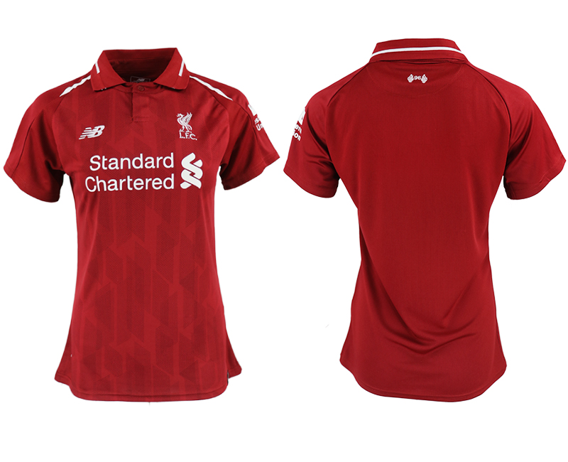 2018-19 Liverpool Home Women Soccer Jersey