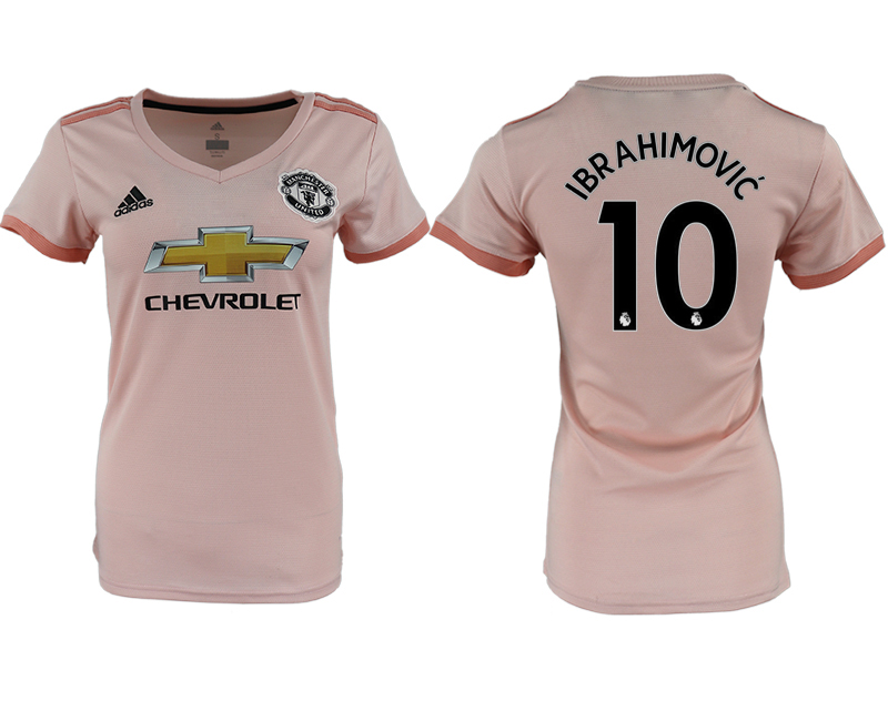 2018-19 Manchester United 10 IBRAHIMOVIC Away Women Soccer Jersey