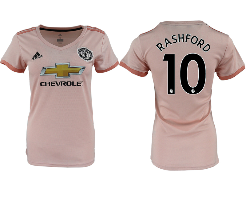 2018-19 Manchester United 10 RASHFORD Away Women Soccer Jersey