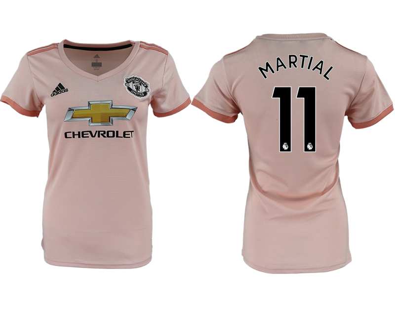 2018-19 Manchester United 11 MARTIAL Away Women Soccer Jersey