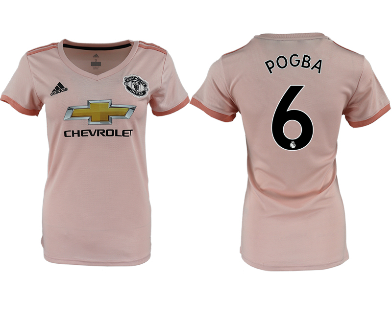 2018-19 Manchester United 6 POGBA Away Women Soccer Jersey