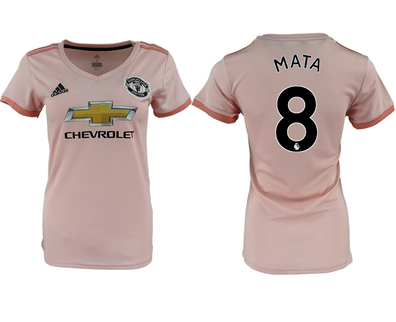 2018-19 Manchester United 8 MATA Away Women Soccer Jersey