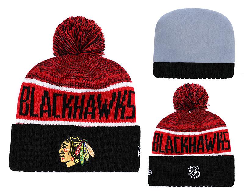 Blackhawks Team Logo Black Knit Hat YD