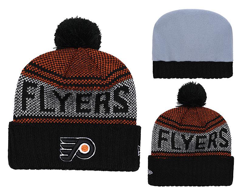 Flyers Team Logo Black Knit Hat YD