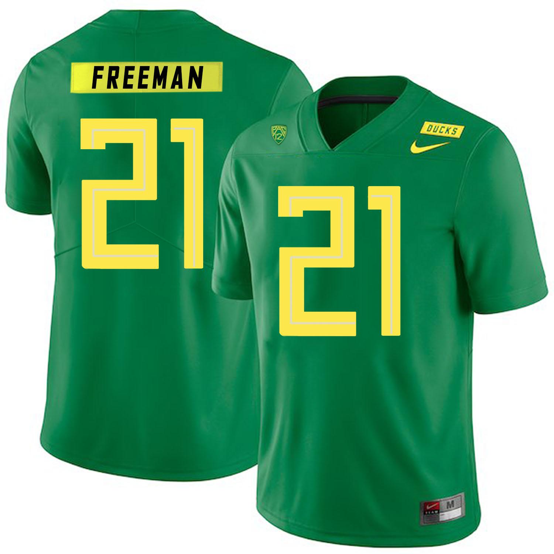 Oregon Ducks 21 Royce Freeman Apple Green Nike College Football Jersey